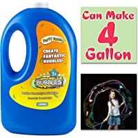 Bubble Solution Refill(Can Make 4 Gallon), Concentrated Bubble Soap 54 Ounce Big Bottle for Jumbo Giant Bubble Wand…
