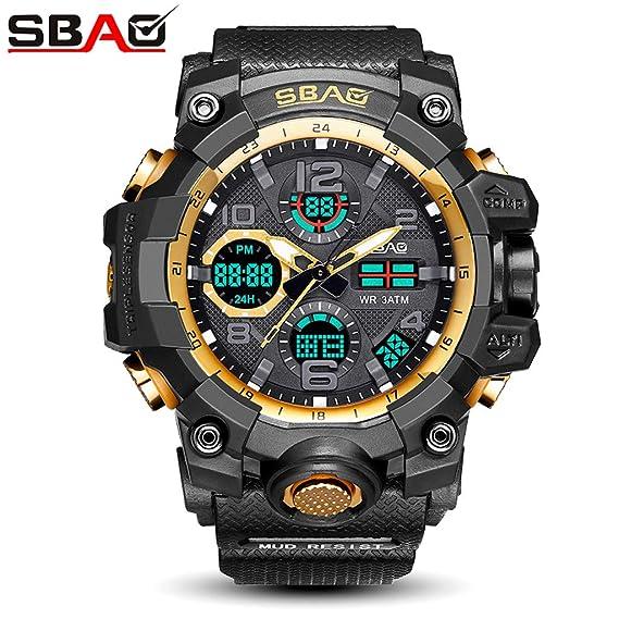 VEHOME Hombre SBAO Reloj Deportivo Hombre Relojes LED Digitales Relojes TPU Relojes de Pulsera de Cuarzo Relojes relojero Reloj reloje hombresRelojes de ...