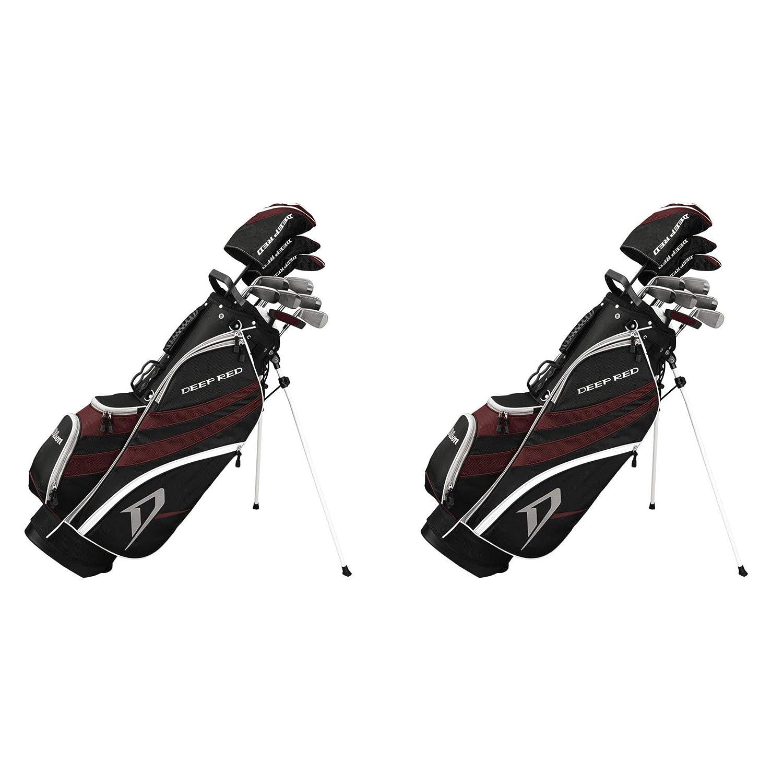 Wilson ディープレッド ツアー コンプリートパッケージ ゴルフクラブセット 軽量 ゴルフバッグ (2個パック) B07JDDWW1Y