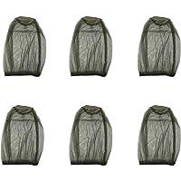 Shine US 6 Pack Mosquito Head Net Face Mesh Net Head Protecting Net for Outdoor Hiking Camping Climbing Walking Mosquito…