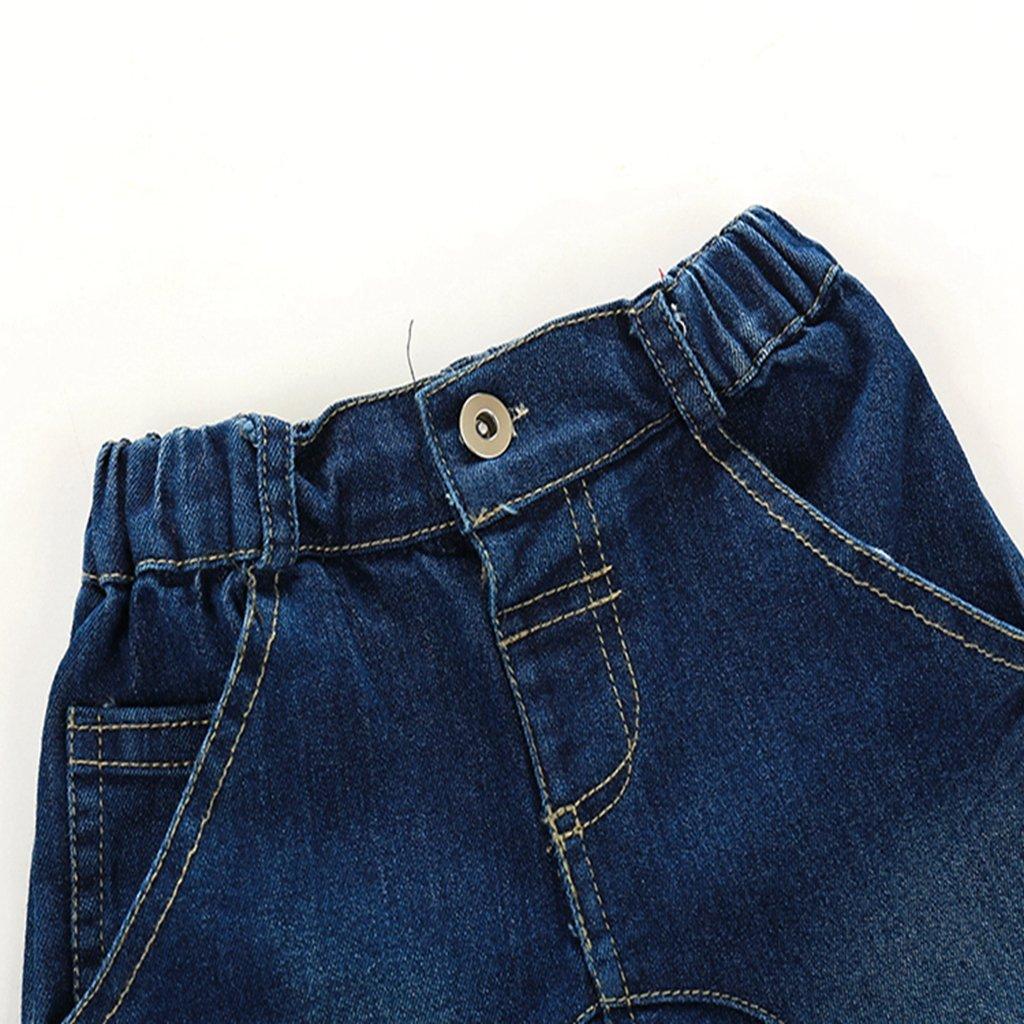 Kimocat Baby Boy Bodysuit Long Sleeve Shirt Denim Pants Jumpsuit Romper