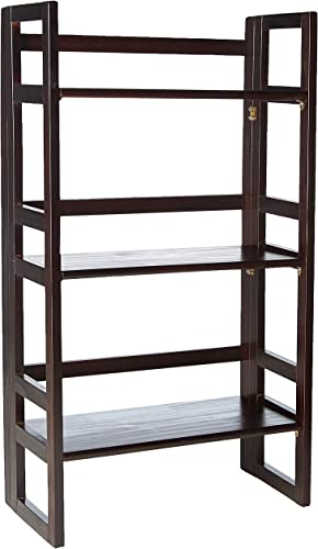 Casual Home 3-Shelf Folding Student Bookcase 20.75 Wide -Espresso