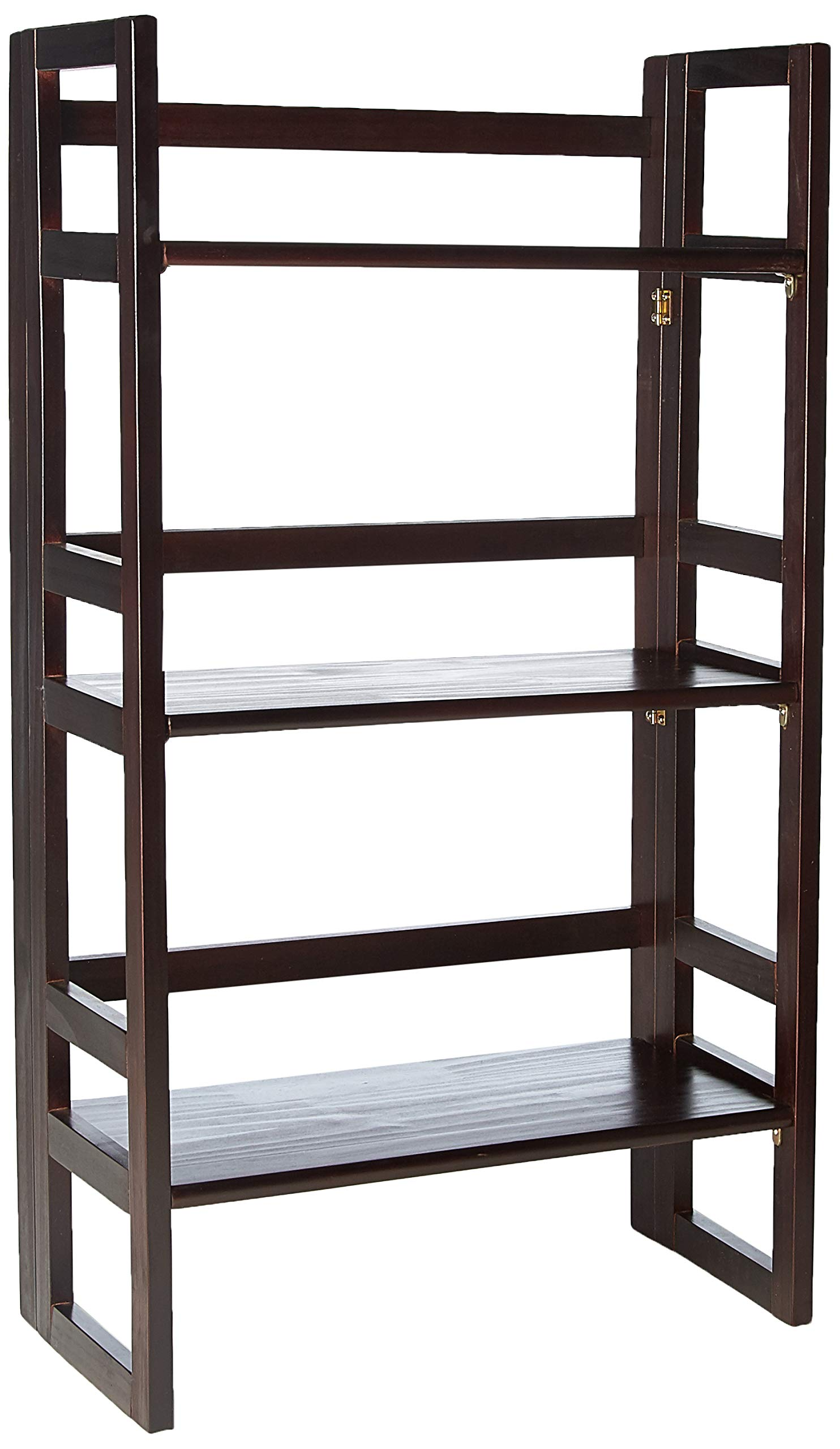 Casual Home 3-Shelf Folding Student Bookcase (20.75'' Wide)-Espresso