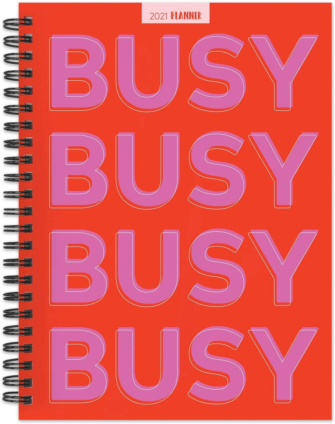 "TF PUBLISHING 2021 Busy Busy Busy Medium Weekly Monthly Calendar Planner - Appointment, Agenda, Notes, Stickers - Home or Office Planning and Organization - Premium Thick Uncoated Paper 6.5""x8"""