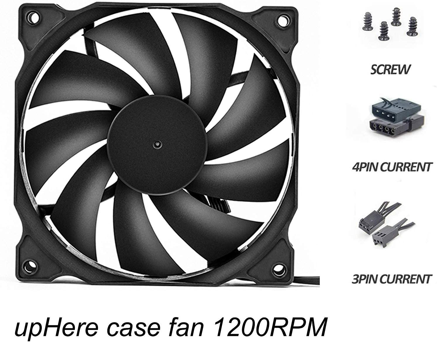 Uphere 120mm Silent Fan For Computer Cases Cpu Coolers And Radiators Ultra Quiet High Airflow Computer Case Fan 3 Pack 12bk3 3 Amazon Co Uk Computers Accessories
