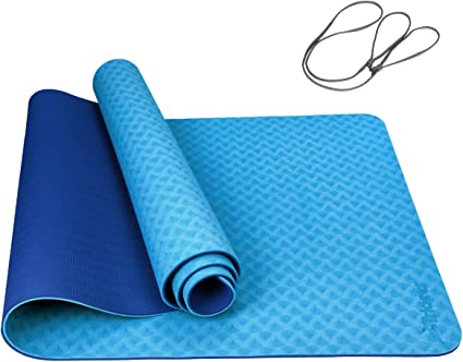 Amazon.com: Trideer - Esterilla de yoga de TPE de 0.236 in ...