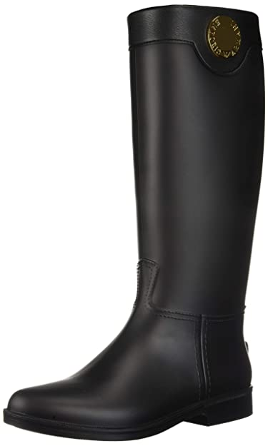 3c23ce68 Amazon.com | Emporio Armani Women's Tall Rain Boot Black, 38M ...