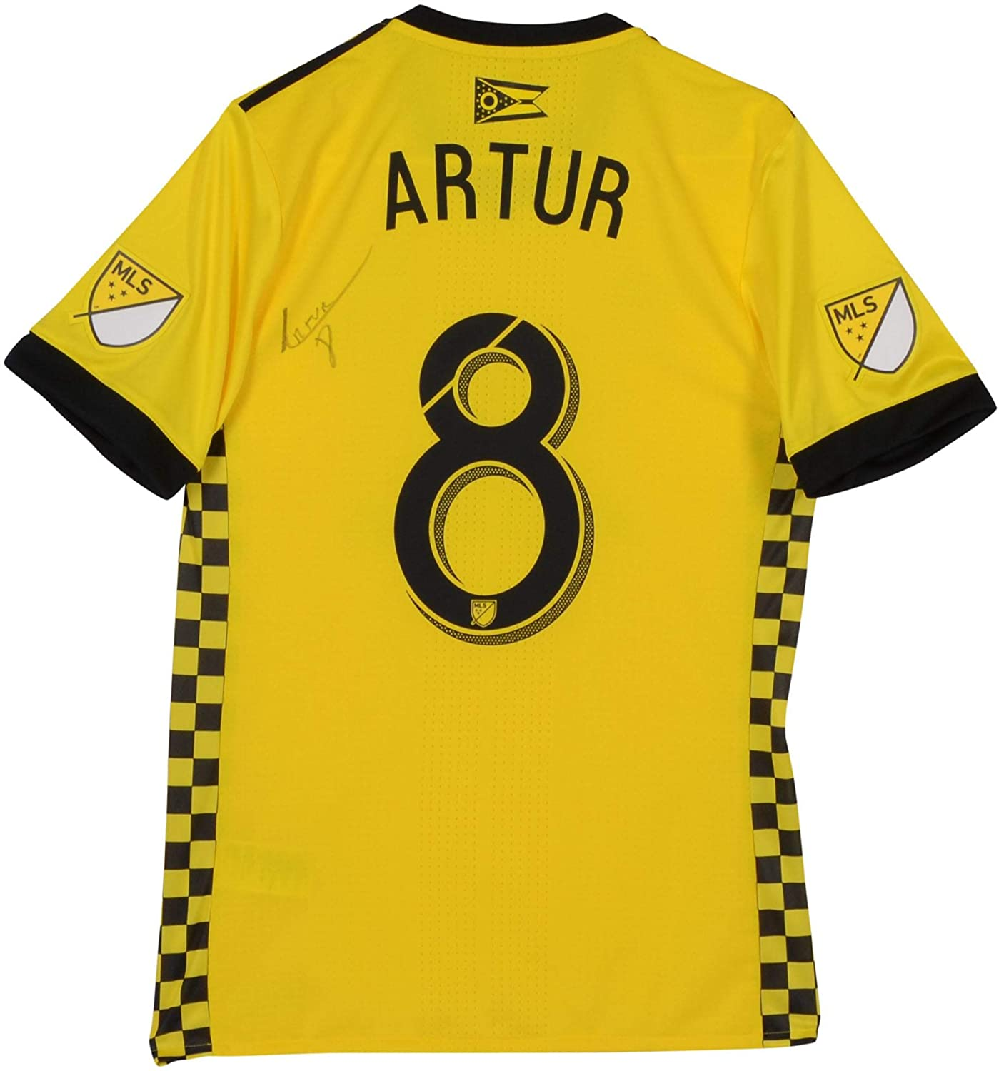 f3304b88cd6 Artur Columbus Crew SC Autographed Match-Used Yellow #8 Jersey vs. New York  Red Bulls on November 11, 2018 - Fanatics Authentic Certified at Amazon's  Sports ...