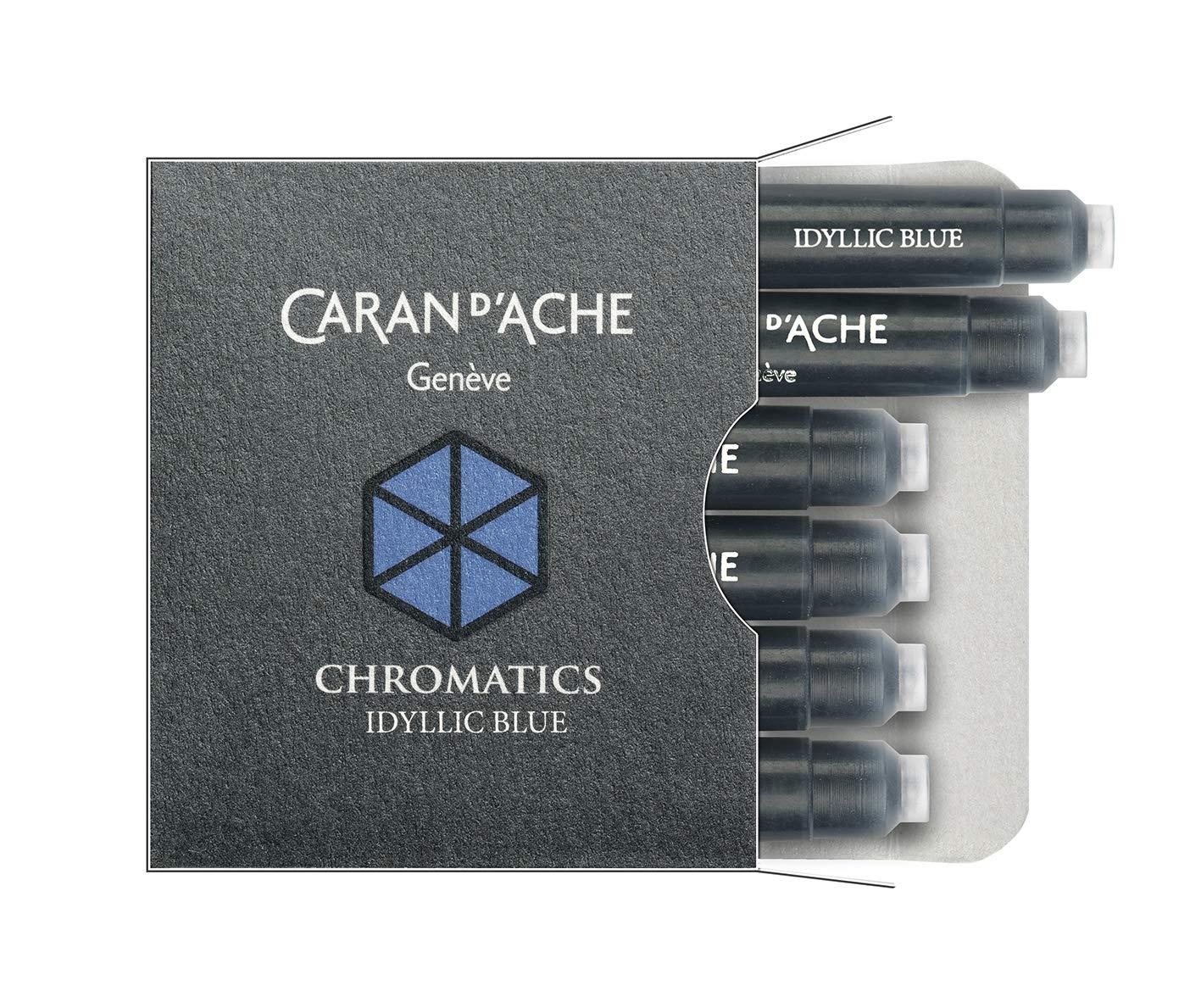 CARAN DACHE Cartucho de tinta cromática azul idílico paque