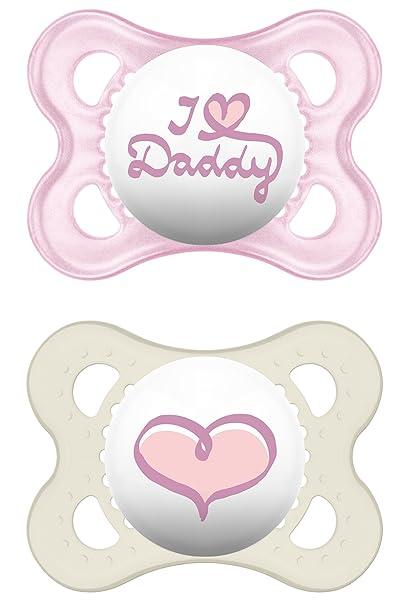 Mam Artículos para bebés, silicona original I love Daddy, para niña ...