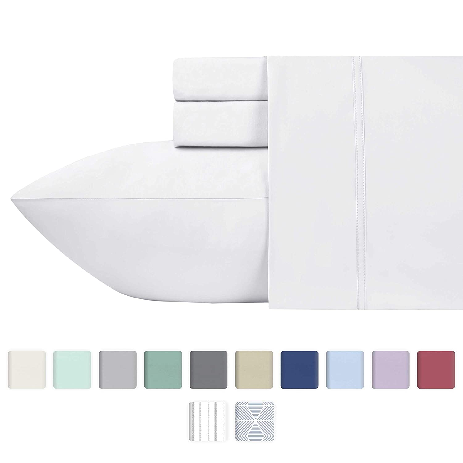 5* 400 Thread Count 100% Egyptian Cotton Fitted Sheet Flat Sheet All Uk Sizes Bright Luster Bed Linens & Sets