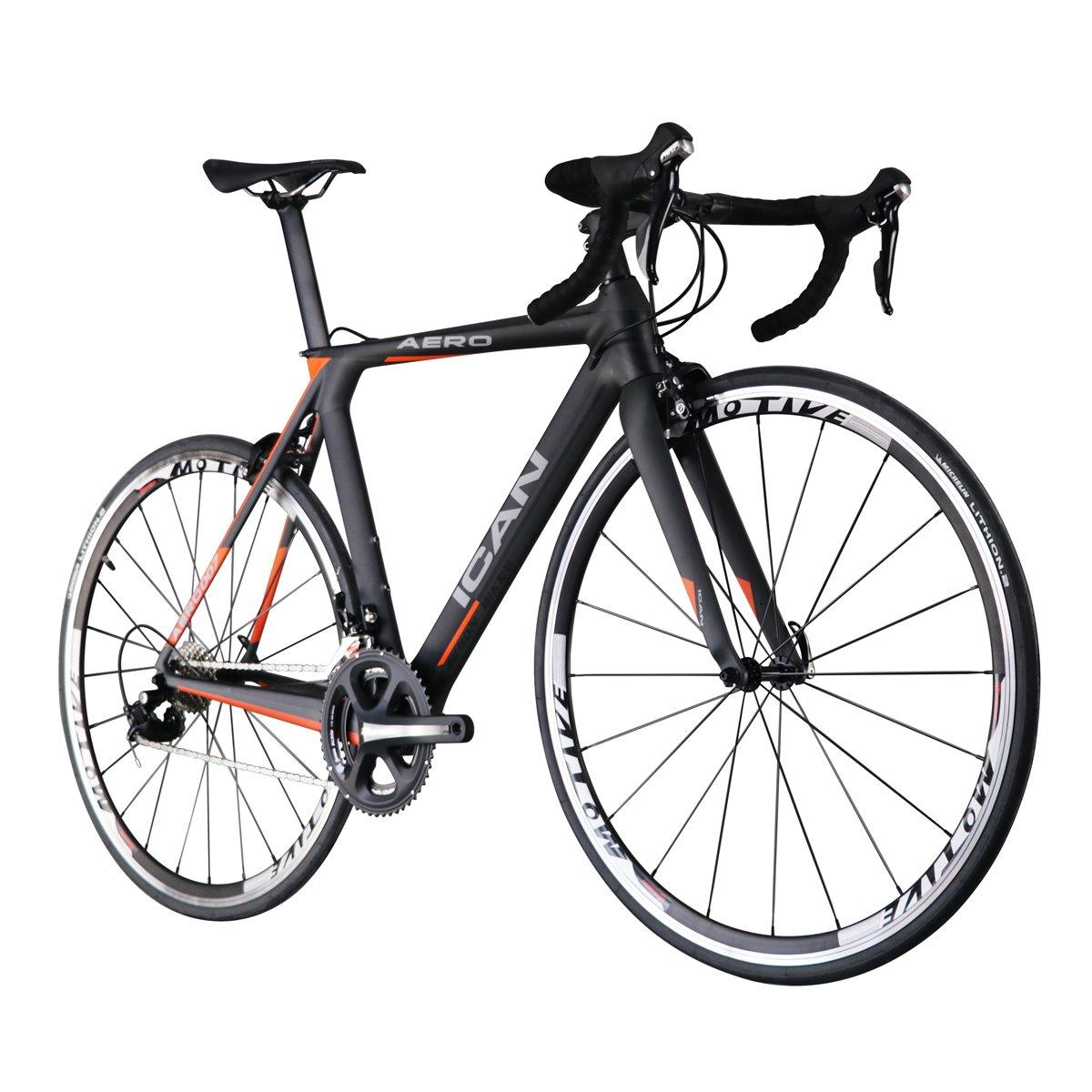 ICAN(アイカン) AERO 007 エアロT700カーボン ロードバイク Shimano(シマノ) 105 (5800)グループ エアロダイナミクス採用フレーム  サイズ:50/52/54/56/58cmから選択可(52cm-約7.85kg) 超轻量 B01KNH5BZI 56cm
