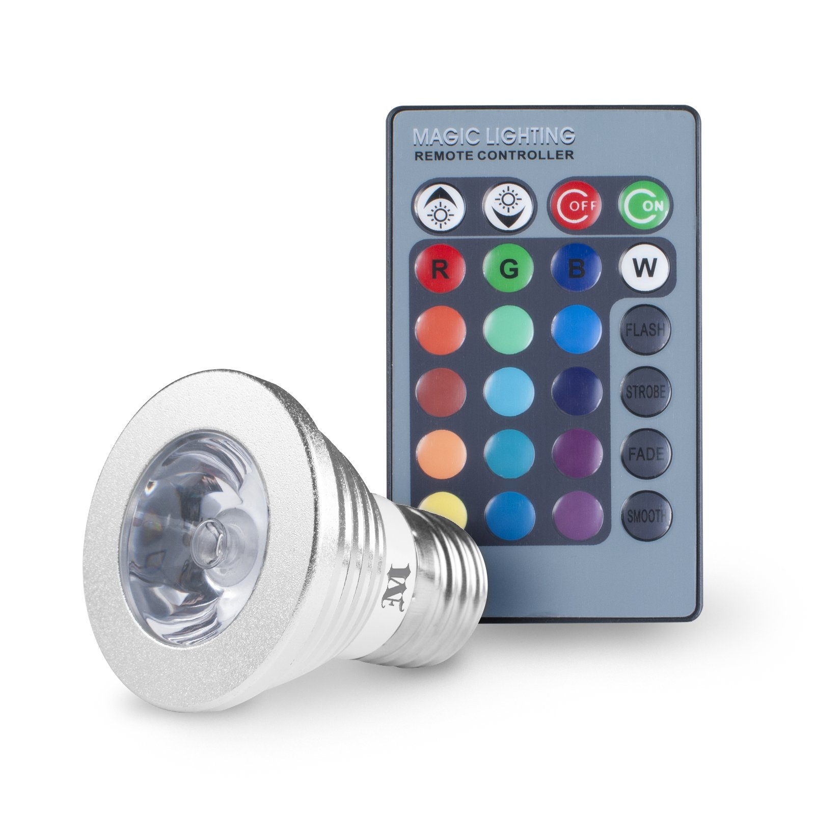Massimo Magic Led Color Changing Light Bulb With Remote Control 16 Different .. 8