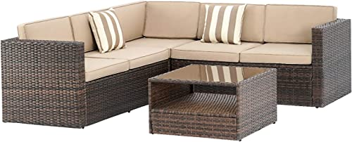 Incbruce 4 Piece 5 Seats Outdoor Patio Furniture Sectional Set