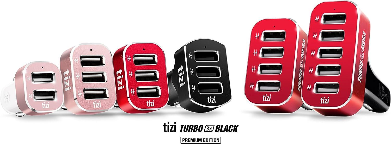 Fino a 2,4 A 12A equinux Tizi Turbolader 5X Mega con Tecnologia Auto Max Power per Auto Caricabatterie per Veicoli con 5 USB Cinque Porte High Power USB indipendenti dal Fabbricante