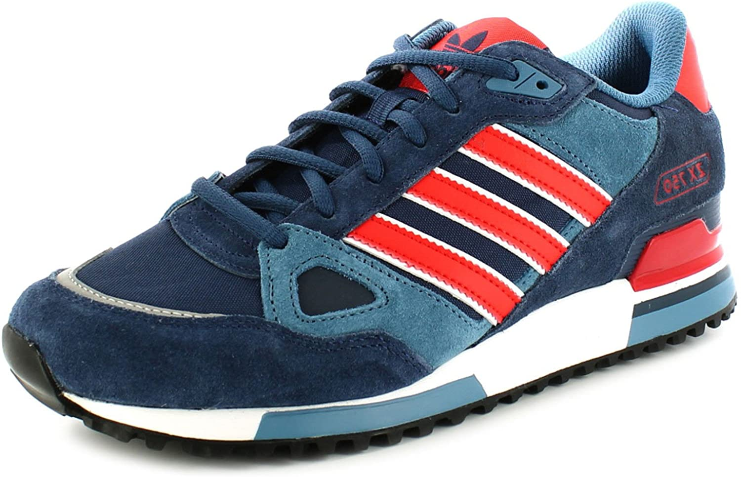 Persona con experiencia Húmedo Solicitante  adidas Originals Zx750 Mens Other Leather Material Running Trainers  Collegiate Navy/Popy: Amazon.co.uk: Shoes & Bags