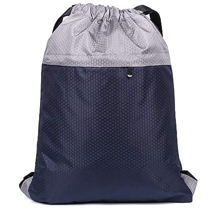 Amazon.com   Gym Sack Sport Drawstring Backpack string Bag Gymsack Gym Sack  Pack for Men Women Waterproof, original (M)   Drawstring Bags b240e9c83c