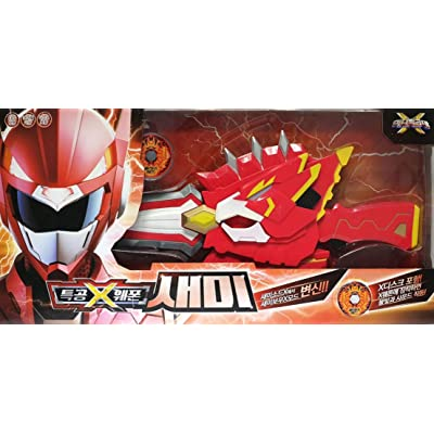 Mini Force X Miniforce Ranger Weapon SEMI Red Transweapon Bow Arrow Sword Set: Toys & Games