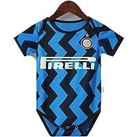 MCE unisex nyfödd bebis Inter Milan fotboll fans bodysuit tröja väst sparkdräkt för pojke flicka gåva