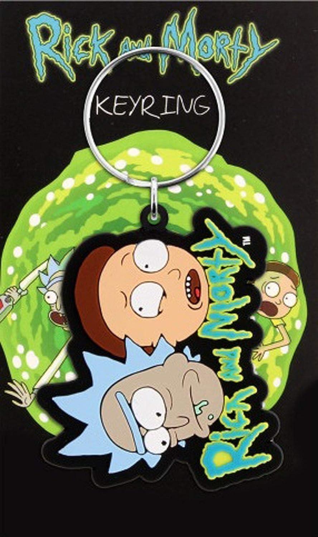 Get Schwifty 7,5x15 cm ca Rick and Morty Gummi Schlüsselanhänger Keyring