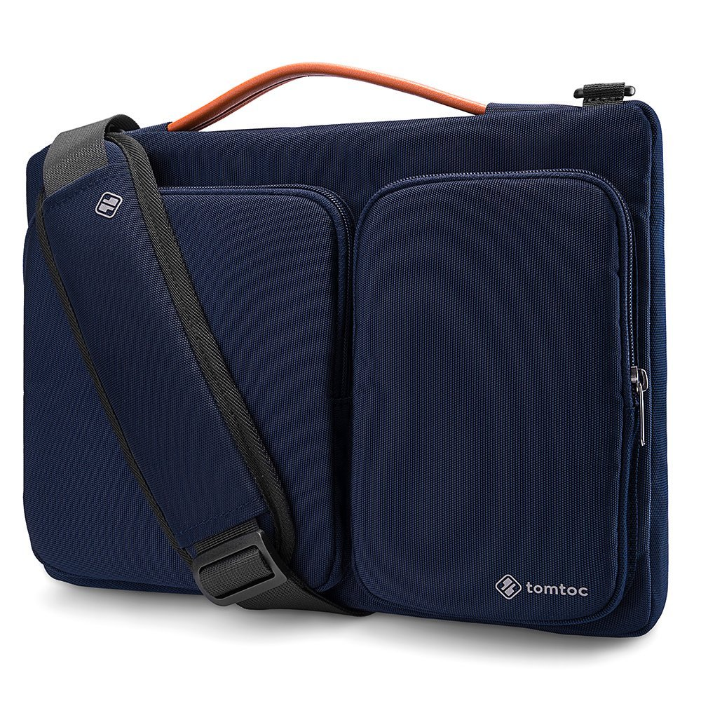 tomtoc Original 15.6 Inch Laptop Shoulder Bag with CornerArmor Patent & Accessory Pocket, 360° Protective Sleeve Compatible with 15-15.6 Dell HP Acer Lenovo Chromebook Notebook
