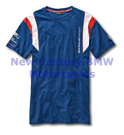 f2b82c9b8bae Amazon.com: BMW Genuine Motorcycle Men Motorsport T-Shirt Tee Shirt  Blue/White/Red L Large: Automotive