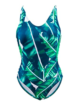 grossiste eb7ef 1927b Carla-Bikini Maillot de Bain 1 Pièce Tropical Jungle Vert ...