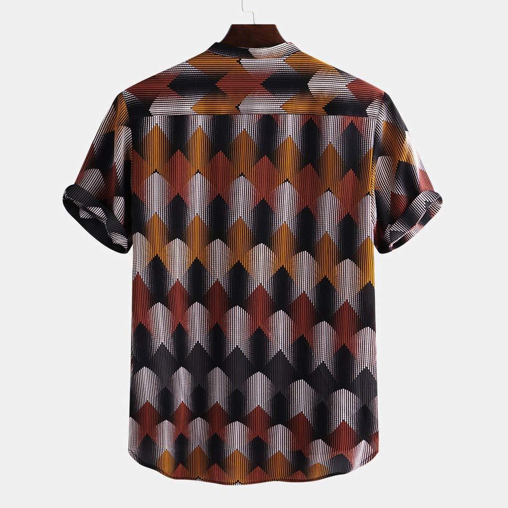 MOTOCO Camisa Hawaiana de Hombre Camisa de Playa con Estampado de ...