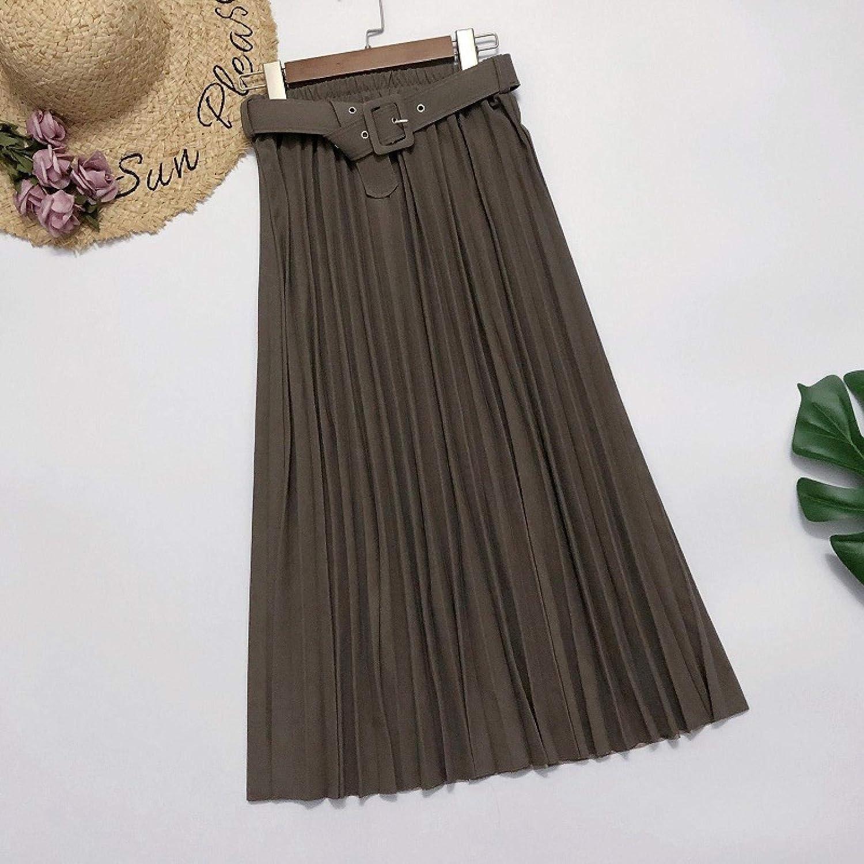 Falda Falda A Cuadros Falda Elegante para Mujer OtoñoFalda Plisada De Cintura Alta Falda Larga Multicolor Falda para Mujer