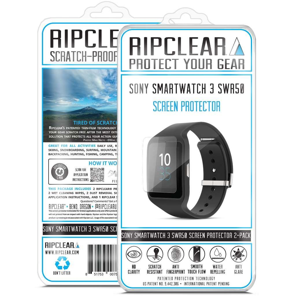 Ripclear Sony SmartWatch 3 SWR50 Smartwatch Screen Protector ...