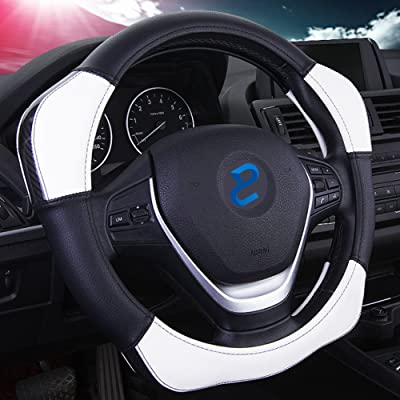 "Auto Car Steering Wheel Cover with 4 Booster Anti-Slip Universal 15""/38cm: Automotive"
