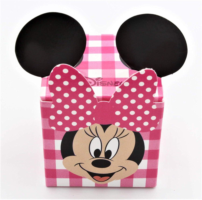 30 Scatola BOMBONIERA Disney Minnie Completo di BIGLIETTINO con Stampa Personalizzata Omaggio