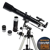 Celestron - PowerSeeker 70EQ Telescope - Manual German Equatorial Telescope for Beginners