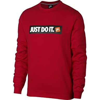 Nike Just Do It Fleece Crewneck at Amazon Men's Clothing store: