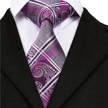 IG Moda Hombres S Tie Sn-1650 Floralplaid Corbatas para Hombres ...