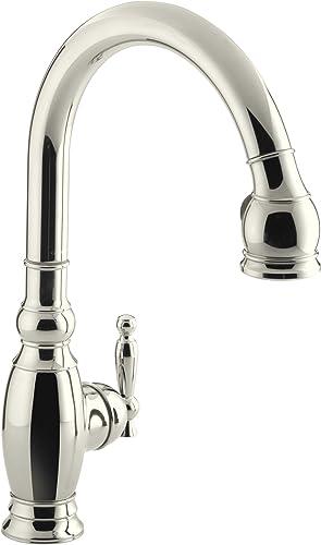 KOHLER K-690-SN Vinnata Kitchen Sink Faucet, Vibrant Polished Nickel
