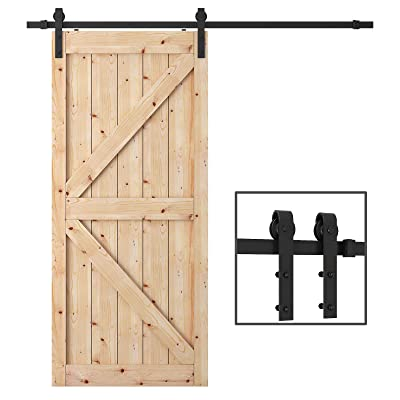 TCBunny 6.6 Feet Sliding Barn Door Hardware Kit Superior Quality Track Kit Antique Style