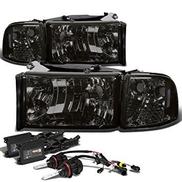 71HQp8yp2AL._SY355_ amazon com dodge ram 2nd gen br be headlight (smoke lens clear  at readyjetset.co