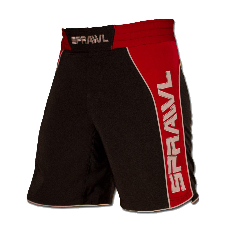 SPRAWL Uni Sportshort Fusion 2 Mma Fight black/red / gray XL 12-0410 S571001030636