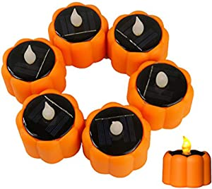 Solar Tea Lights Waterproof Rechargeable LED Flameless Tealight Candles with Dusk to Dawn Light Sensor for Lantern Window Outdoor Camping Emergency Home Decor 6pcs