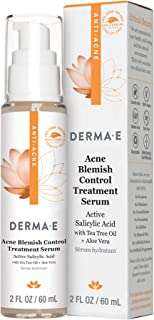 product image for DERMA E Acne Blemish Control Treatment Serum - Highly effective moisturizing acne treatment for face - Helps to fight against blemishes, blackheads, breakouts and cystic acne - Rebalances skin
