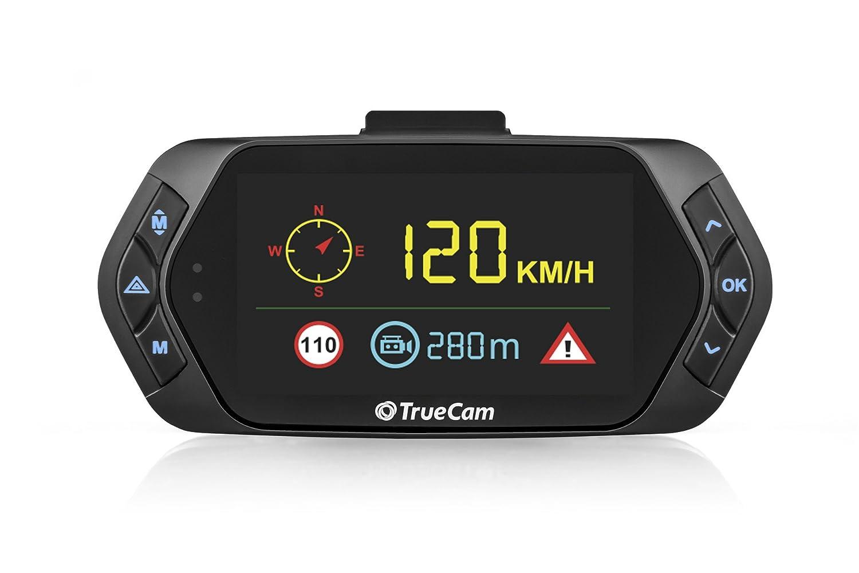 praktische WLAN Verbindung G-Sensor und Dateisperrung Schwarz LCD Display mit deutschem Men/ü TrueCam A5 Pro WiFi GPS Dashcam Autokamera Full HD 1080p mit Blitzerwarner Endlosschleife