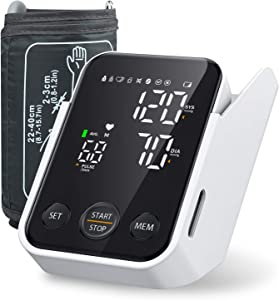 Blood Pressure Monitor Upper Arm with Large LED Display, Accurate Automatic Digital Blood Pressure Cuffs for Home Use, Adjustable Cuff, Irregular Heartbeat & Hypertension Detector, 2x120 Sets Memory