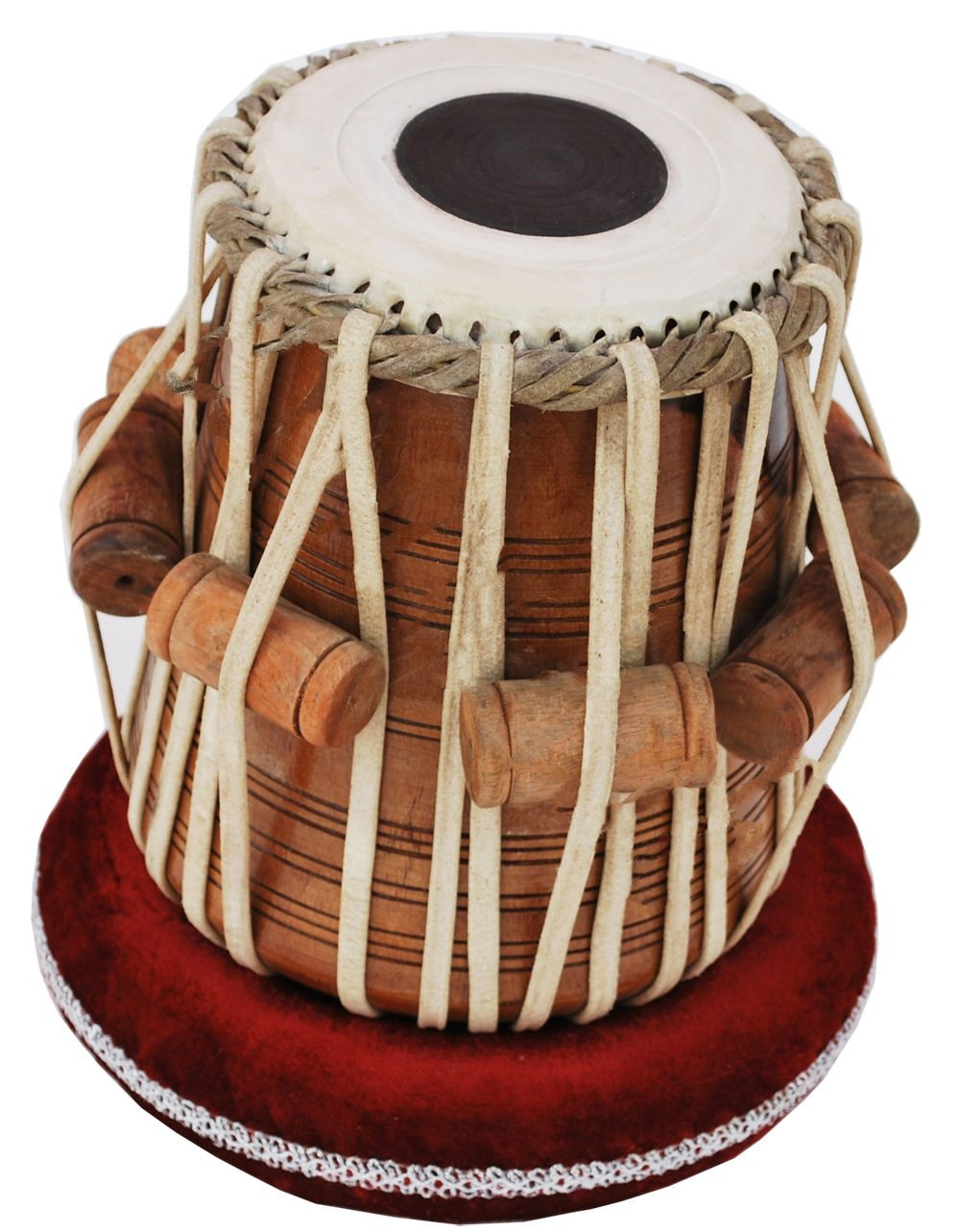 Queen Brass Tabla Dayan Drums-Shesham Wood-Hand Made Skin-Great Sound