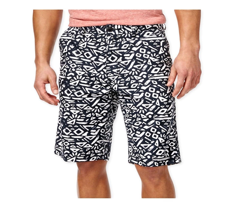 American Rag Mens Allover Printed Casual Walking Shorts deepblack 36