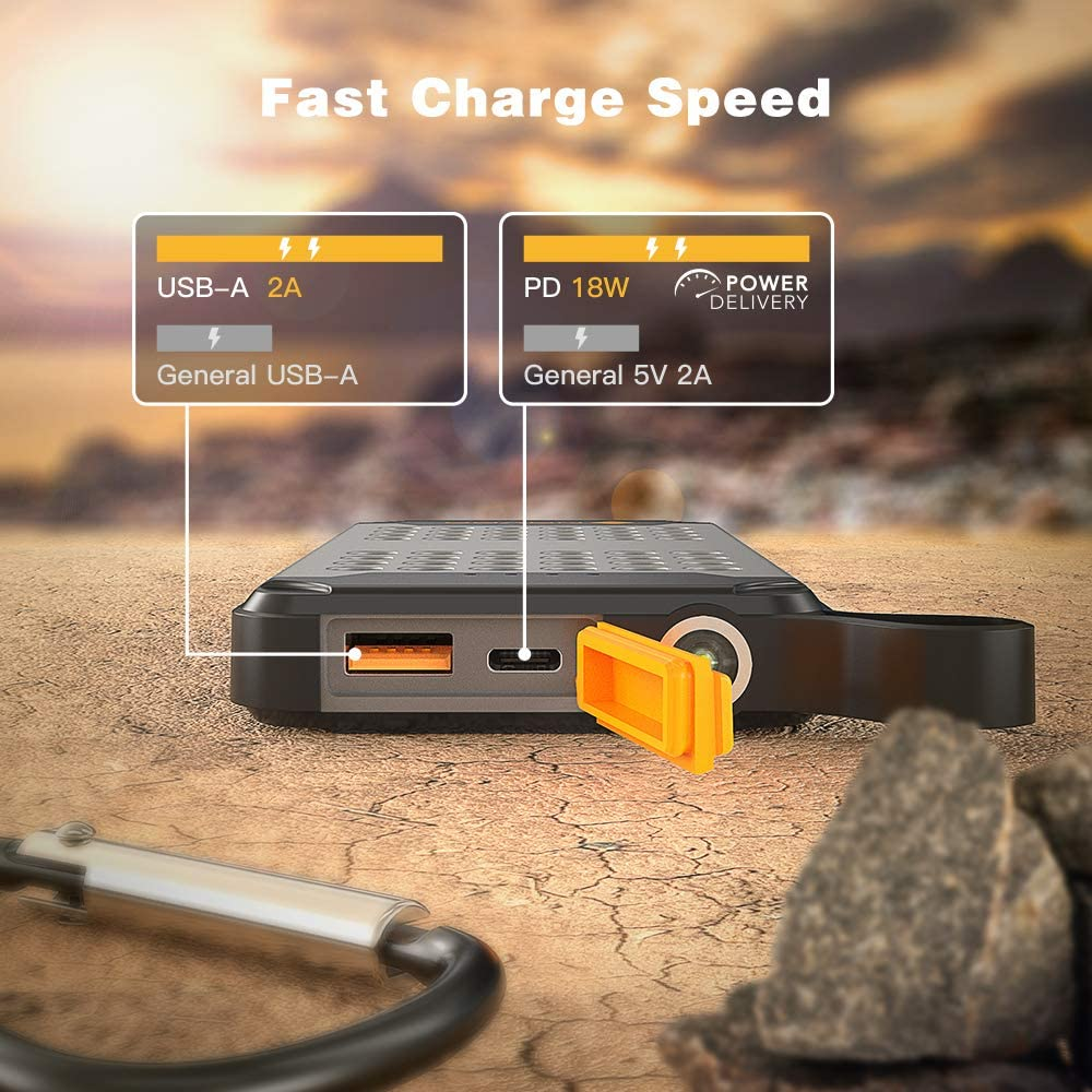 iPad Huawei Mate 20 Pro Galaxy S9 // Note 9 Novoo 10000mAh Portable Charger Waterproof Battery Pack USB C Power Bank with PD 18W LED Flashlight Fast Charge for iPhone Xs//XR//XS Max//X