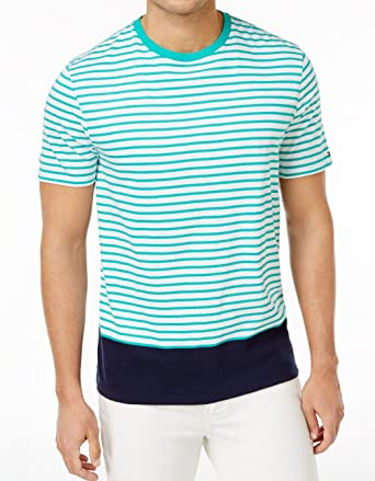 1cacdf30 Tommy Hilfiger Mens Striped Colorblocked T-Shirt Green 2XL | Amazon.com