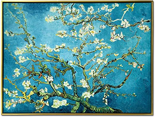 Almond Blossom by Vincent Van Gogh Abstract Poster Art Wall Prints Home Décor