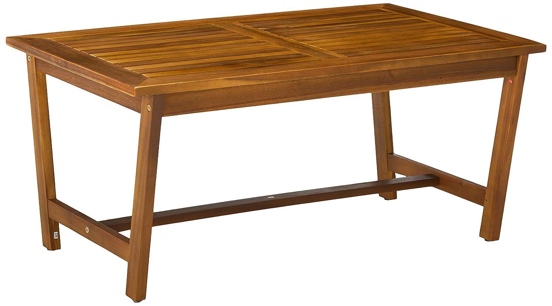 GDF Studio 300251 Manarola 4-Piece Outdoor Acacia Wood Chat Set in Teak Finish Grey