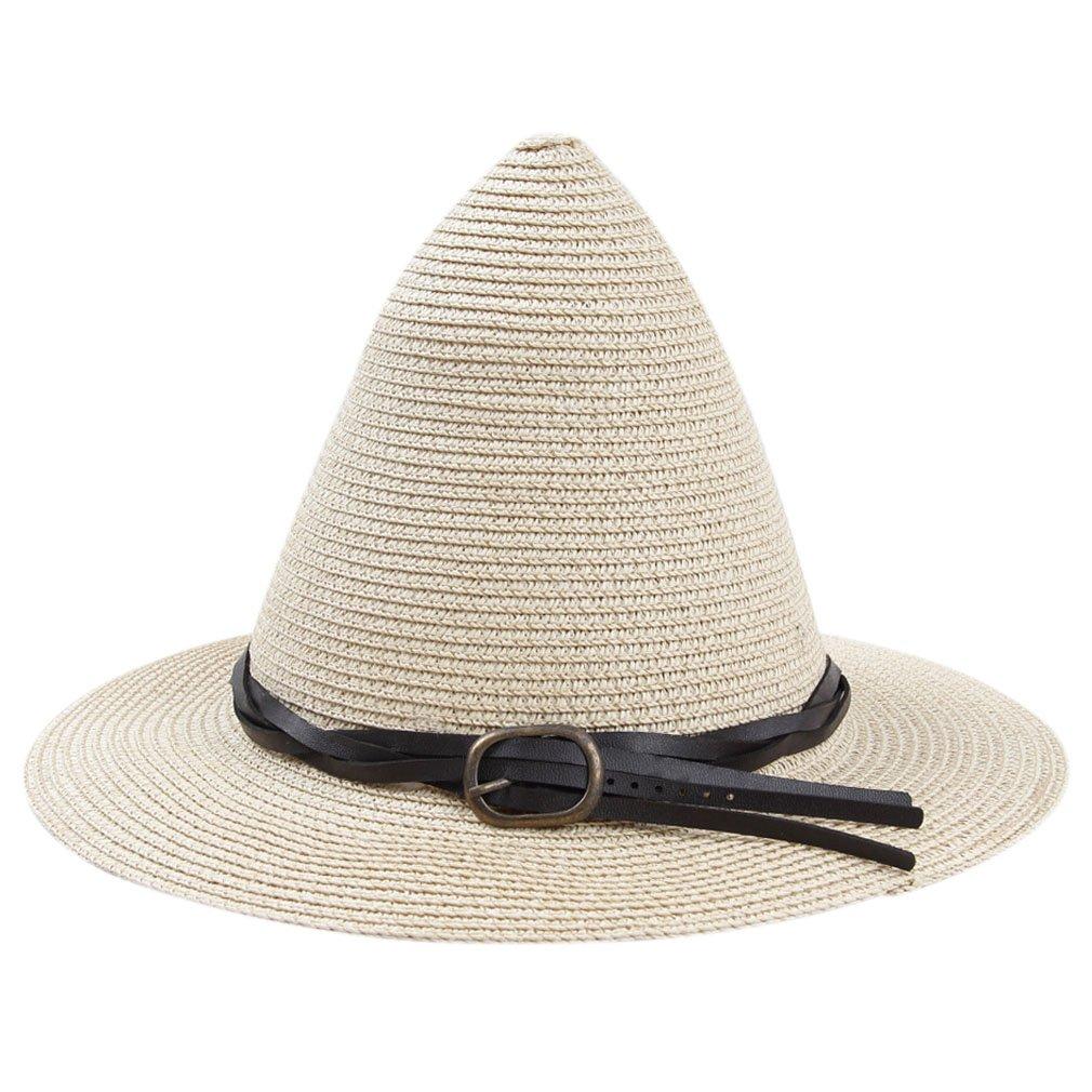 SAYM Women's Brim Straw Witch Hat Beach Sun Cap Halloween Costume Accessory SAC32BL
